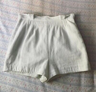 1950s Vintage White Cotton Shorts
