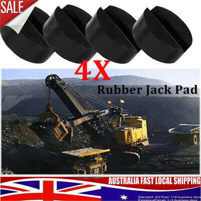 4X Universal Lifting Jack Pad Adapter Slotted Frame Rail Floor Trolley Rubber