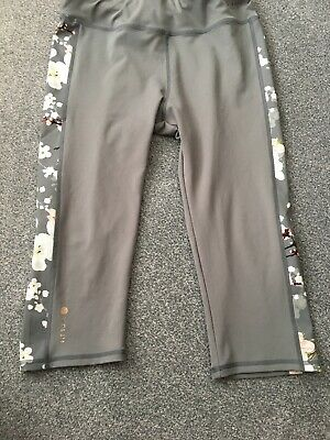 012a057fa9200b GORGEOUS TED BAKER Black floral patterned gym exercise capri ...