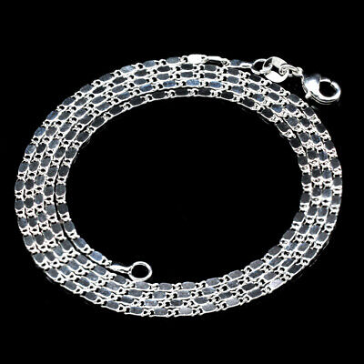 Silver Plated Flat Chain Necklaces Fashion Jewelry Gift 26'' 28'' 30''