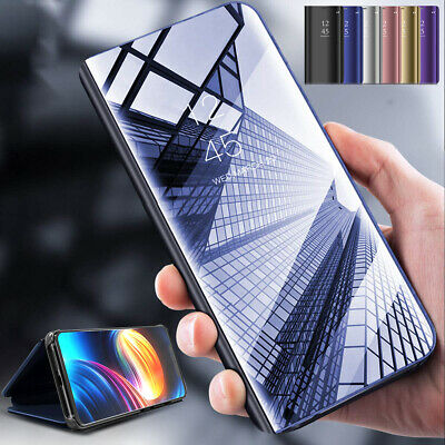 New Huawei P20 Lite Mate 20 Pro Smart View Mirror Leather Flip Stand Case Cover