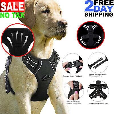 Pet Control Reflective Large No Pull Dog Harness Vest For Small Medium Adjustabl