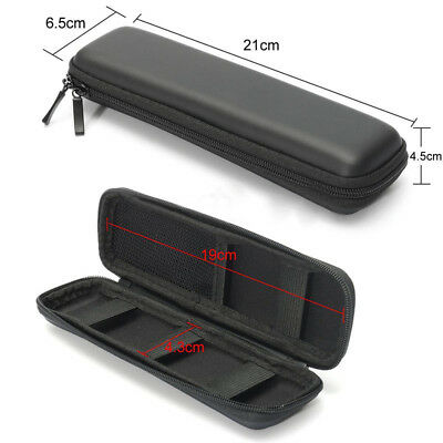 New EVA Hard Shell Black Pen Pencil Case Holder Pouch Stationery Makeup Bag Box
