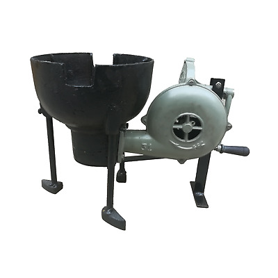 Blacksmith's Large Forge Furnace with Hand Blower Pedal Type Handle Fan