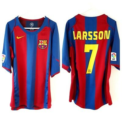 9cc275f8c85 Barcelona Larsson Home Shirt 2004. Medium. Nike. Red Adults Football Top  Only M