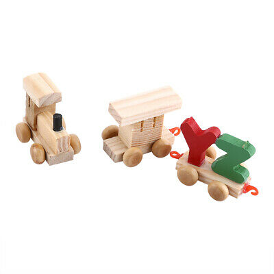 Wooden Train Set Alphabet Wood Letters with Wheels Kids Toddler Educational Toy.