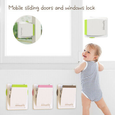 1Home Kids Baby Sliding Window Door Guard Stopper Child Proof Drawer Handle Lock