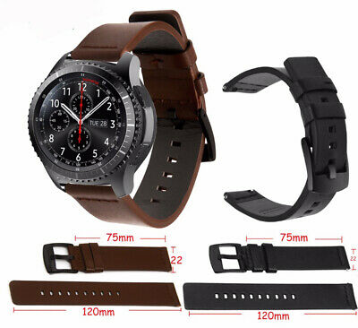 22MM Quick Release Retro Genuine Leather Band For HUAWEI WATCH GT Smart Watch