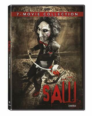 Saw 1-7 Movie Collection Tobin Bell James Wan Unrated DVD Box Set Horror NEW