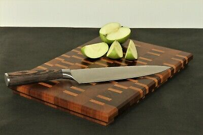 Chopping Board Solid Walnut Oak Wood Kitchen Cheese Cutting Handmade Medium