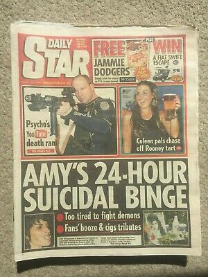 Daily Star Newspaper 25th July 2011 Amy Winehouse Page 3 Stacey 14 99 Picclick Uk