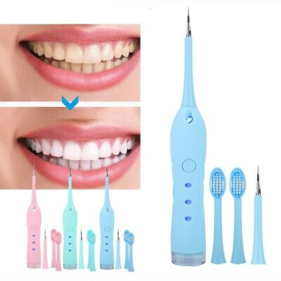 Electric Sonic Dental Calculus Remover Scaler Tooth Stain Removal USB Tool 3Mode