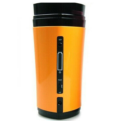 Rechargeable USB Powered Coffee Tea Cup Mug Warmer Automatic Stirring (Yell H5D9