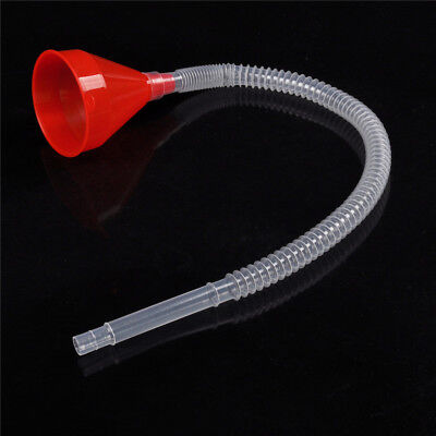 Red Flexible Car Motorcycle Funnel Spout Mesh Screen Strainer Gasoline