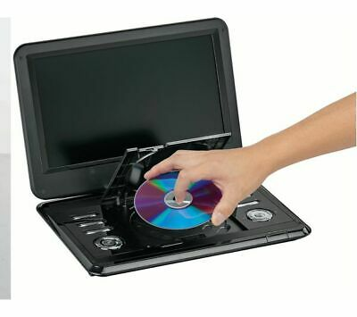 """12"""" Inch Large Portable DVD Player with Swivel Screen, Remote & in Car Charger *"""