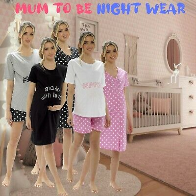 Ladies Night Shirt Chemise Dress Short Sleeve Nightie Loungewear Women's Pyjamas