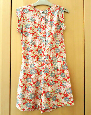 Next Girls Red Floral Jumpsuit Playsuit Age 8 Years BNWT