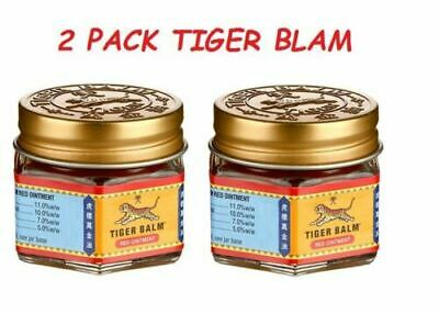 2 x Tiger Balm Red Relief of Muscular Ache Pain Ointment Massage Rub 21ml