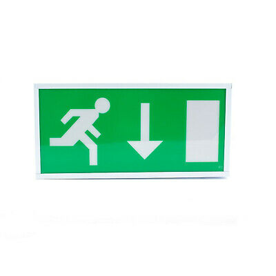 8W Exit Sign Box (Downward Arrow)