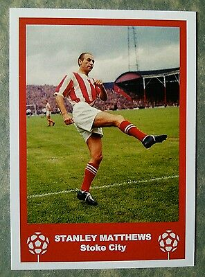Stoke City - Stanley Matthews - Retro Fathers Day 'Football Card' / Gift Tag