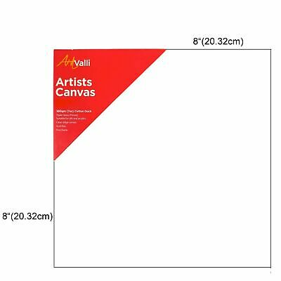 "Artist Thick Stretched Blank Canvas 8""X8"" 20 X 20cm Canvases Bulk Art Craft"