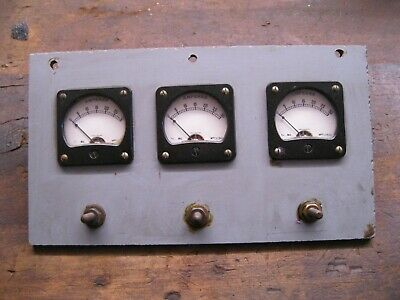 3 x Vintage Mounted Amp Meters 0 - 30amp. H.B Ltd England 1970s Retro Cave