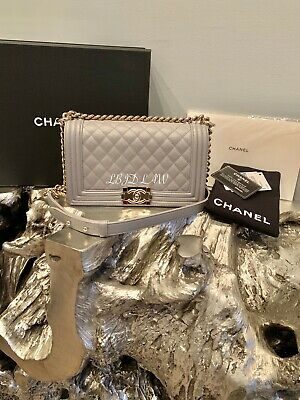 ad1798a42b4a CHANEL 19S Iridescent Yellow Caviar Medium Classic Flap Bag 2019 CC Pearly  Gold