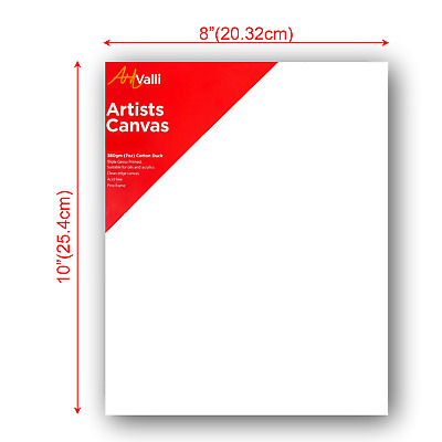 """Artist Thick Stretched Blank Canvas 8""""X10"""" 20 X 25cm Canvases Bulk Art Craft"""