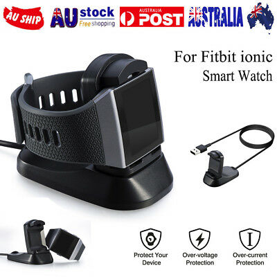 For Fitbit ionic Smart Watch USB Charger Cable Battery Charging Dock Station AU