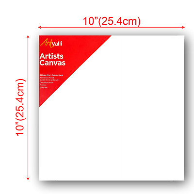 "Artist Thick Stretched Blank Canvas 10""X10"" 25 X 25cm Canvases Bulk Art Craft"
