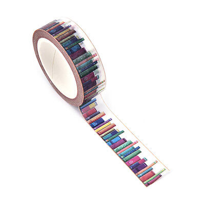 1x 15 mm*10m DIY Library Tapes Decorative Adhesive Tape School Supplies  CRI