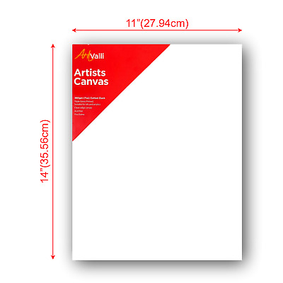 """Artist Thick Stretched Blank Canvas 11""""X14"""" 28 X 35cm Canvases Bulk Art Craft"""