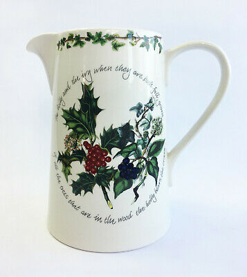 Portmeirion The Holly and the Ivy Bella Christmas Jug - 3 Pints / 1.7 Litre