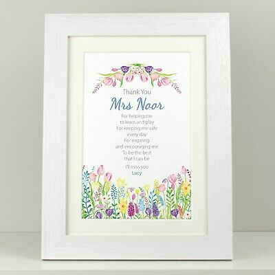 TEACHER Thank you gift / Personalised Nursery School End of term leaving VA137