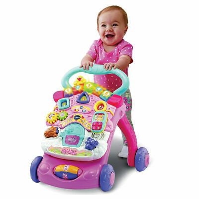 Vtec First Steps Baby Walker Refresh Pink - With lights and sounds!