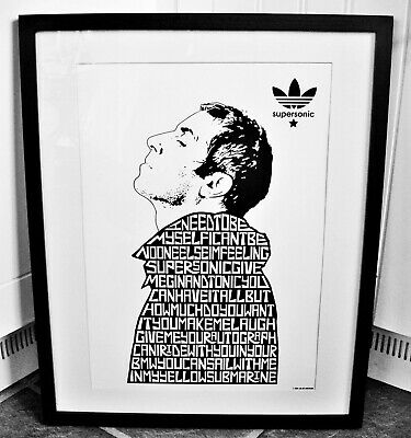 Oasis/Liam Gallagher/Supersonic A3 size typography art print/poster