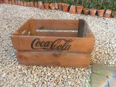 coca cola wooden box