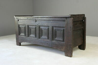 Northern European Oak Chest Coffer Blanket Box Storage