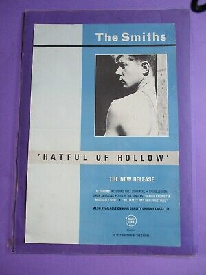 The Smiths Hatful Of Hollow ORIGINAL PROMO POSTER 1984 UK Rough Trade