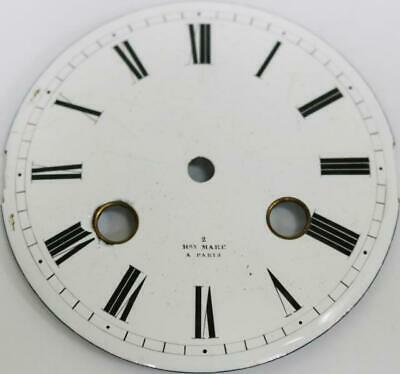 Original Antique 80mm Diam Porcelain French Mantle Clock Dial - Henry Marc Paris
