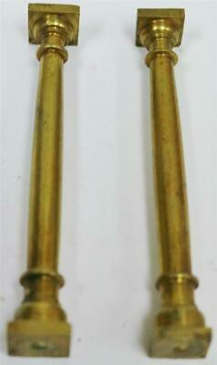 Pair Of Vintage English Brass Lantern Clock Verge Bracket Clock Small Pillars
