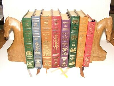Lot of 8 Franklin Library Signed First Editions Leather Bound - Great condition