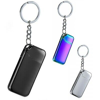 USB Electric Charge Flameless Key Chain Rechargeable Windproof Coil Lighter