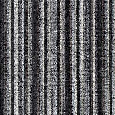 Grey Springfield Cheap Striped Loop Pile Carpet Hardwearing Felt Backed 4m Wide