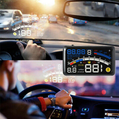 Universal F4 Head Up Display HUD ODB2 AutoCar Speedometers Warning System Saf SG