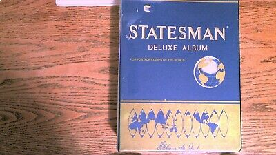 Statesman Deluxe album Worldwide stamps A-Z all pictured unchecked