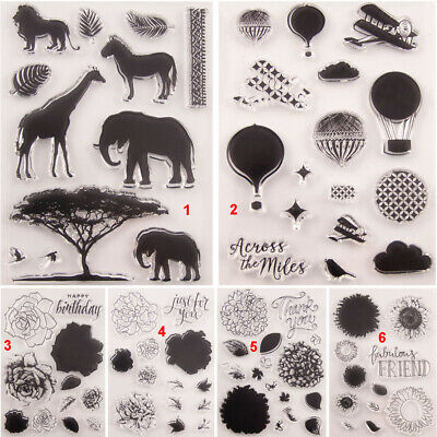 Animal Flower Transparent Silicone Clear Stamps DIY Scrapbook Embossing Cloud