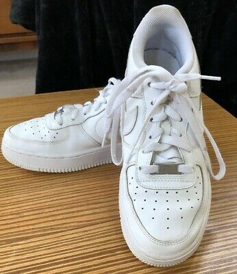 the latest 4a60e ee7d5 EUC Youth (GS) Nike Air Force 1 Low White White 314192-117