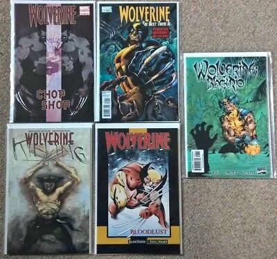 Marvel Special Wolverine x5 Blood Lust Chop Shop Black Rio Killing Best There Is