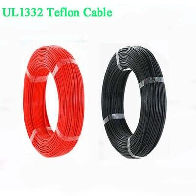 12 AWG UL1332 FEP Stranded Cable Electrical Wire Hook-up 200°C 300V Black / Red